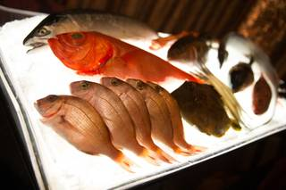 The $1,000 omakase dinner by chef Nobu Matsuhisa at Nobu on Thursday, April 28, 2016, in Caesars Palace.
