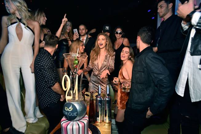 Gigi Hadid celebrates her 21st birthday at Intrigue on Saturday, ...