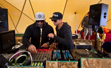DJs kept the party going 'round the clock at last weekend's festival in Moapa.