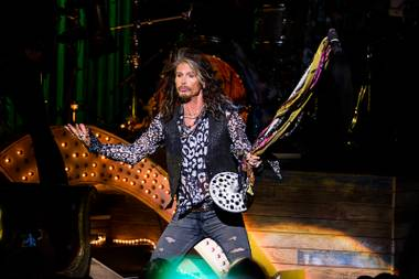 "Steven Tyler performs at ""Steven Tyler … Out On A Limb"" at the Lincoln Center on Monday, May 2, 2016, in New York."