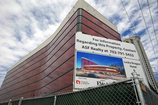 Construction continues on the Lucky Dragon hotel-casino on Sahara Avenue near Las Vegas Boulevard Thursday, May 5, 2016.