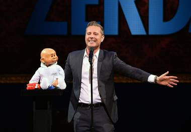 "The grand opening of Paul Zerdin's ""Mouthing Off"" on Friday, May 13, 2016, at Planet Hollywood."