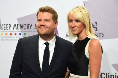 "James Corden and Julia Carey appear on the red carpet for Keep Memory Alive's 20th Annual ""Power of Love"" Gala at MGM Grand Garden Arena on Saturday, May 21, 2016, in Las Vegas."
