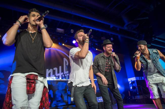 O-Town performs at Vinyl on Sunday, May 22, 2016, in ...