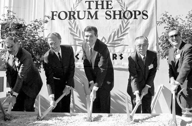 Groundbreaking ceremonies for the Forum Shops at Caesars Palace on ...