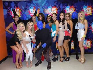 2016 Miss USA Pageant contestants attend Blue Man Group at the Luxor.