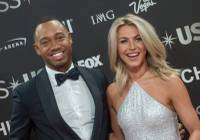 """Dancing With the Stars"" pro dancer and judge Julianne Hough, who hosted Sunday's 2016 Miss USA Pageant at T-Mobile Arena alongside Terrence J (""106 & Park"") on Fox, let slip that she has purchased two dresses for her wedding to Toronto Maple Leafs star Brooks Laich."