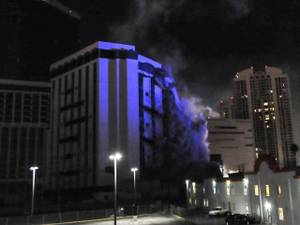 Monaco Tower at Riviera Is Imploded