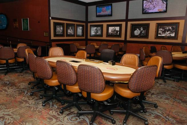 Binion's Hall of Fame Poker Room on June 14, 2016.