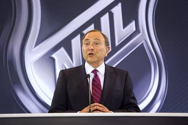 Gary Bettman, NHL commissioner, announces Las Vegas' first professional sports franchise during a news conference at the Encore Wednesday, June 22, 2016. The NHL expansion team is expected to begin play in the 2017-18 season at T-Mobile Arena.