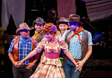 "A scene from ""Idaho! The Comedy Musical"" at the Smith Center."