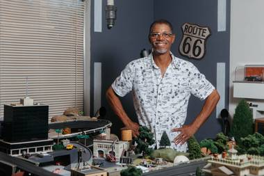 His suburban Henderson house is filled with collectibles and handmade miniatures, all of which he says are influenced by a love of pop culture that started in his childhood.