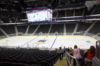T-Mobile Arena holds an open house to future NHL season ticket holders, Monday, Aug. 1, 2016.