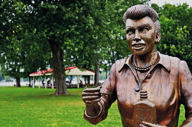 Actress Lucile Ball's infamous 'Scary Lucy' statue replaced by new one