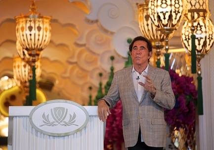 Steve Wynn, CEO of Wynn Palace, speaks during a news conference in Macau, China, in August 2016.