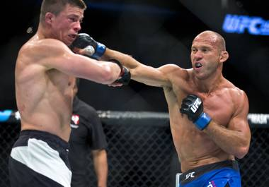 Donald Cerrone (31-7) got an impressive knockout victory over Rick Story (19-9) in a battle of ranked welterweights at UFC 202 Saturday, Aug. 20, 2016 at T-Mobile Arena.