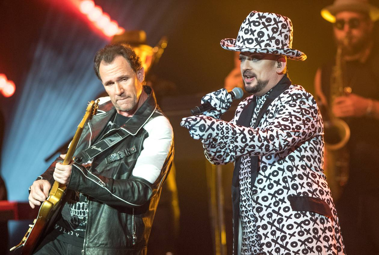 Boy George remains a showman, and his performance was rounded out by his first-rate banter—quick with a quip and a turn of phrase, like a comedian working the room.