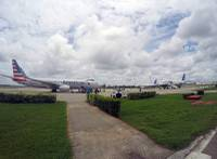 In this Friday, June 10, 2016, file photo, American Airlines and JetBlue Airways charter flights wait to depart from Havana's Jose Marti International Airport. The first commercial flight between the U.S. and Cuba in more than half a century is scheduled to fly from Fort Lauderdale, Fla. to the central city of Santa Clara Wednesday, Aug. 31.