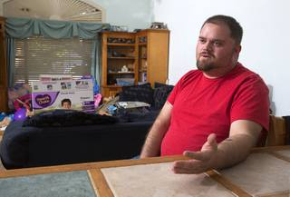 ITT Technical Institute student Scott Sunderlin responds to a question during an interview at his home in Henderson Thursday, Sept. 8, 2016. Sunderlin is considering his options after ITT abruptly closed all it's schools on Sept. 6.