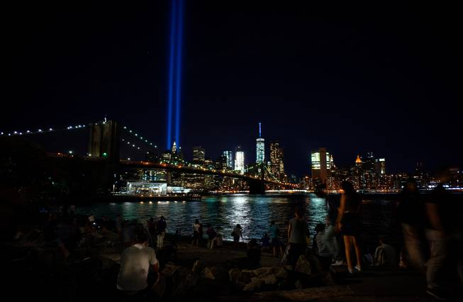 'Tribute in Light' honors victims of 9/11 attacks on 15th anniversary