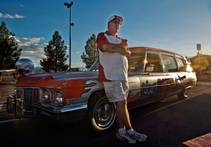 Dave Rice with Rebel Hearse
