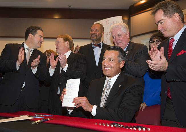 Governor signs bill clearing way for NFL stadium in Vegas