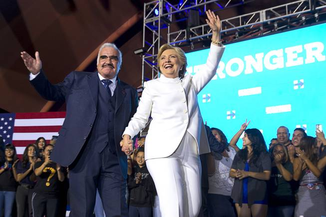 Clinton Joins Latino Superstars in Post Debate Stop
