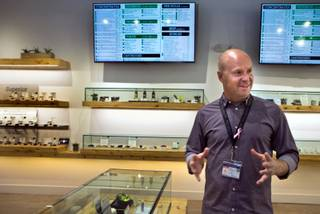 Owner Andrew Jolley of The Source dispensary facility newly opened in Henderson speaks about the numerous edible marijuana products available there on Thursday, Oct. 20, 2016.