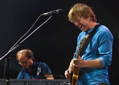 Phish guitarist Trey Anastasio performs in concert with his band at the MGM Grand Garden Arena on Friday, Oct. 28, 2016.