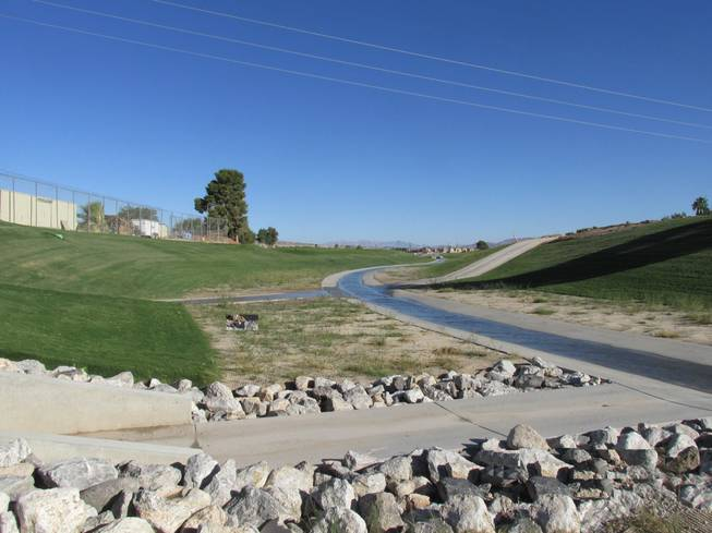 A remodeled portion of the Las Vegas Wash Sloan Channel
