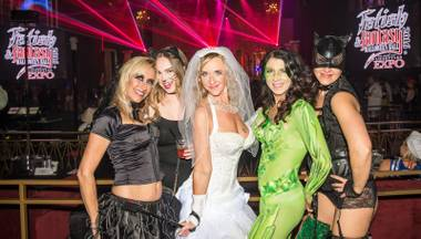 "Attendees were encouraged to ""display their wild side"" during the Fetish and Fantasy Halloween Ball at the Hard Rock Hotel & Casino on Saturday, Oct. 29, 2016."