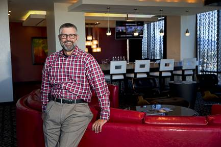 Palms vice president and general manager Michael Jerlecki poses in a Sky Villa at the Palms Monday, Nov. 21, 2016. Station Casinos completed its acquisition of the Palms in October. STEVE MARCUS