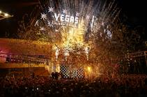 Confetti streams above an excited crowd as the name of Las Vegas' National Hockey League franchise — the Vegas Golden Knights — is unveiled Tuesday, ...