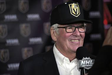 Owner Bill Foley speaks at the unveiling of the name of the newest NHL team, the Vegas Golden Knights, Tuesday, Nov. 22, 2016, at Toshiba Plaza.
