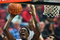 UNLV basketball defeats NAU