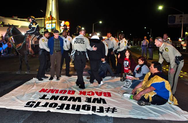 6 Arrested As Protesters Seeking Minimum Wage Increase Take To Las