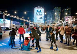 The Ice Rink Opens At Cosmopolitan