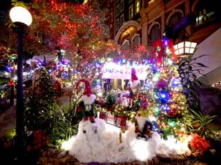 Sam's Town Mystic Falls Park Christmas decorations. Thursday, December 8, 2016.