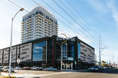 A view of the Eclipse Theaters, an upscale, concierge-style venue on the perimeter of the Arts District.