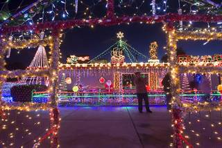 A view of Dale Ryan and Dyanah Musgrave's home in Boulder City Sunday Dec. 18, 2016. The home will be featured in The Great Christmas Light Fight