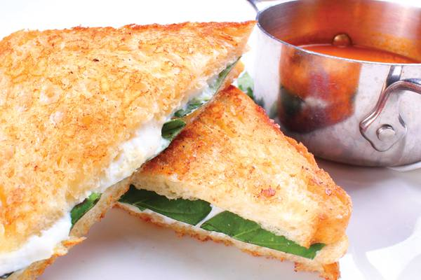 Recipe: Ricotta grilled cheese with tomato soup