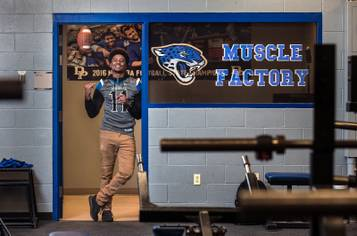 Desert Pines High School quarterback Marckell Grayson will sign with UNLV football on Feb. 1. He's pictured at Desert Pines on Friday, Jan. 13, 2017.