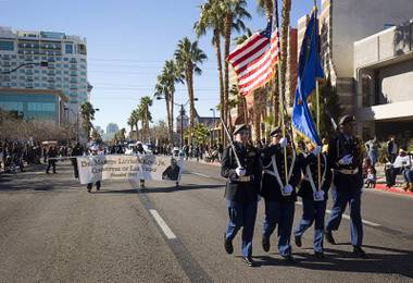 The 35th annual Dr. Martin Luther King Jr. Day Parade gets underway in downtown Las Vegas Monday, Jan. 16, 2017. MGM Resorts International was the presenting sponsor.