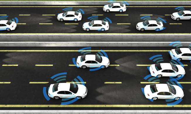 In the not-so-distant future, driverless cars might talk to each other to stay optimally safe and efficient on the road.