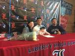 Darion Acohido of Liberty High School will play college football at Columbia.