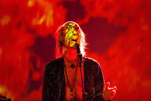 Arthur Brown of The Crazy World of Arthur Brown performs at Vinyl at the Hard Rock Casino, Thursday, Feb. 16, 2017.