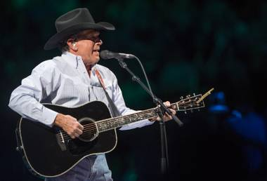Country legend George Strait took over T-Mobile arena with opening guest act Kacey Musgraves Saturday, Feb. 18, 2017.