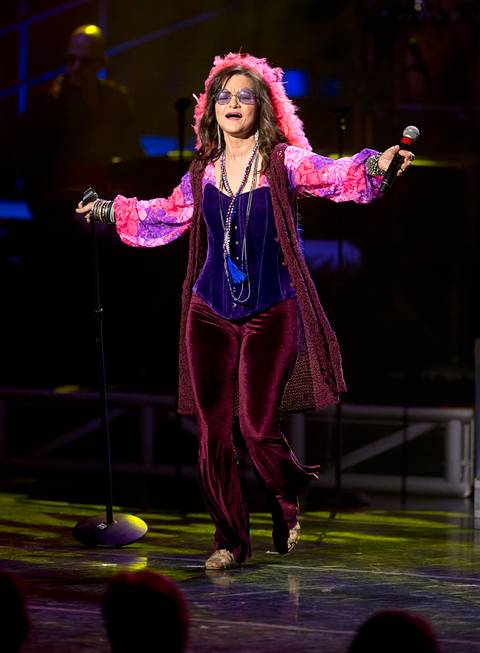 Michelle Rohl performs as Janis Joplin during a debut of ...
