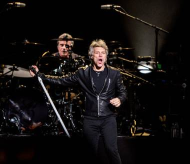 "Bon Jovi performs at T-Mobile Arena for their ""This House Is Not for Sale Tour,"" Saturday, Feb. 25, 2017."