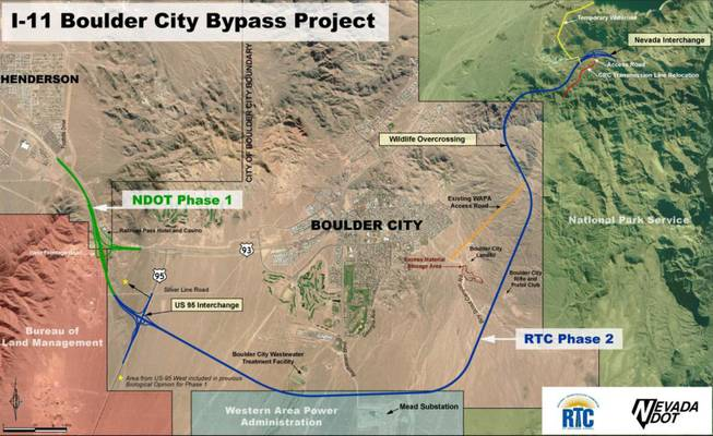 The first two phases of Interstate 11 in Nevada are expected to be completed in 2018.